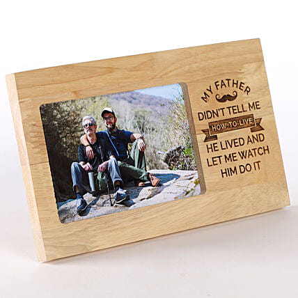 Personalised Photo Frame For Dad: Fathers Day Photo Frame Gifts