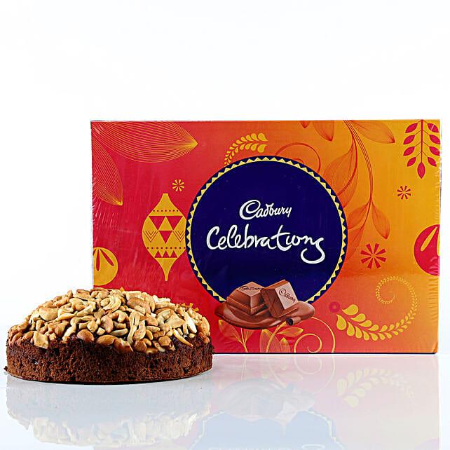 Cashew Cake & Cadbury Celebrations Combo: Cadbury Chocolates