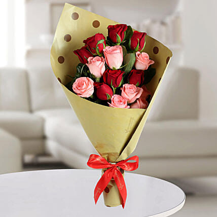 Mixed Roses Bunch: Send Girlfriend Day Roses