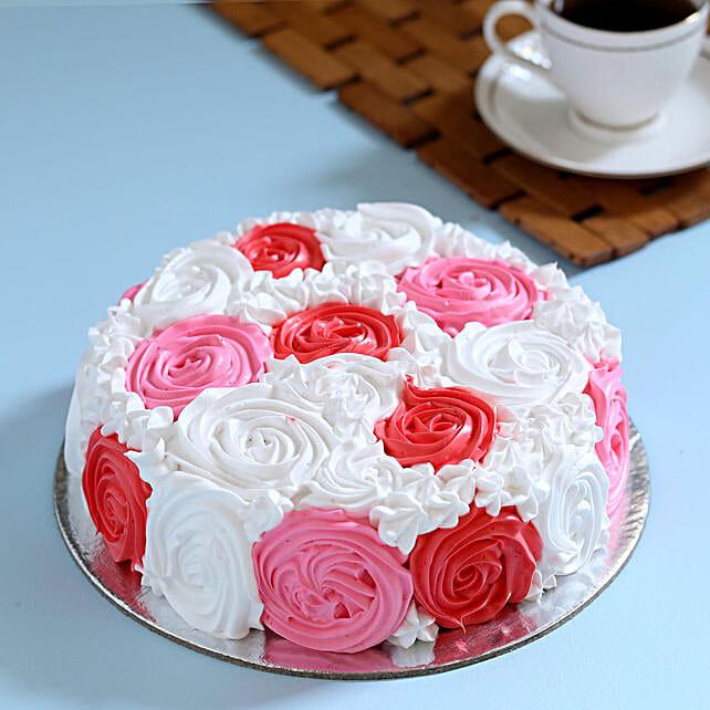Yummy Colourful Rose Cake: Anniversary Designer Cakes
