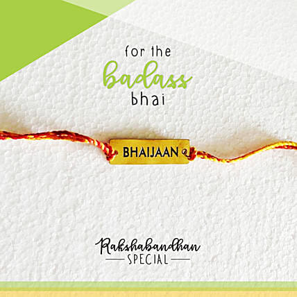 For Your Bhaijaan Quirky Rakhi & Card: Rakhi to Secunderabad