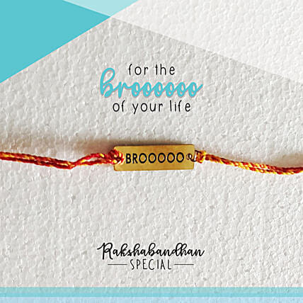 For Your Brooo Quirky Rakhi & Card: Send Rakhi to Noida