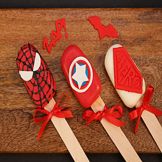 Set of 3 Cakesicles For Avengers Lovers: