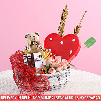 Love Forever Basket: Gourmet Gifts India