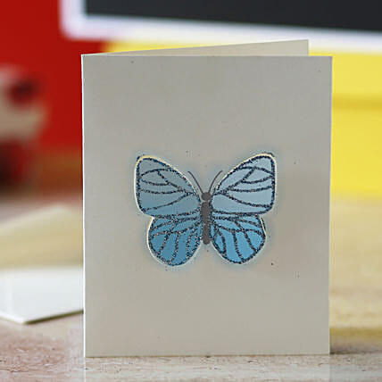 Blue Butterfly Greeting Card: Send Gifts for 75Th Birthday