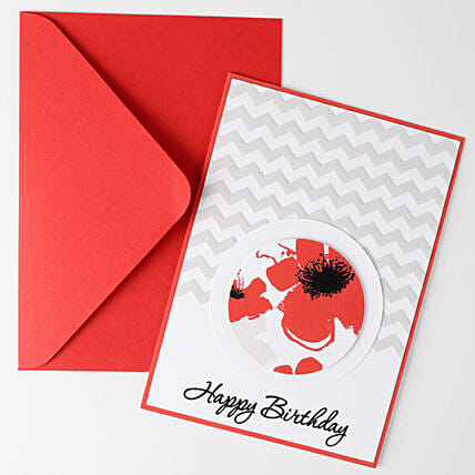 Floral Effect Greeting Card: Gifts for 50Th Birthday