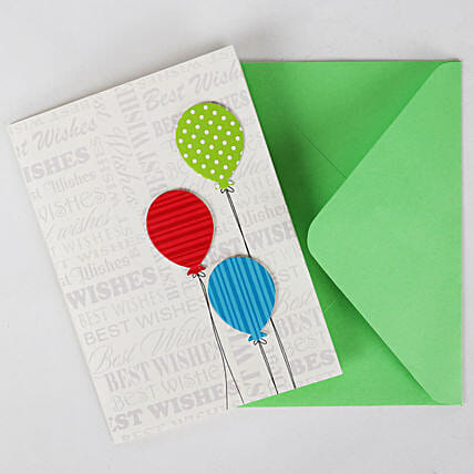 Happy Birthday Balloon Greeting Card: Gifts for 75Th Birthday