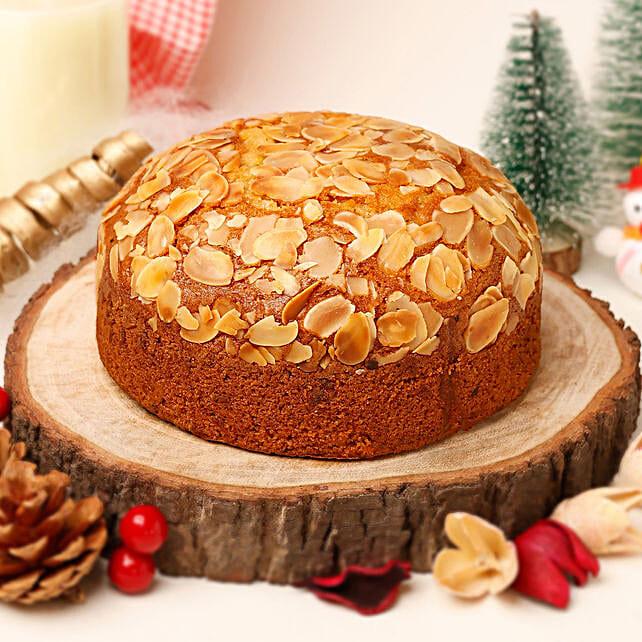 Delicious Almond Dry Cake- 500 gms: Send Plum Cakes
