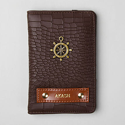Personalised Croco Brown Passport Cover: Personalised Accessories