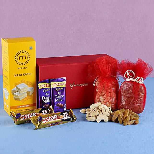Kaju Burfi Festive Hamper: Cadbury Chocolates