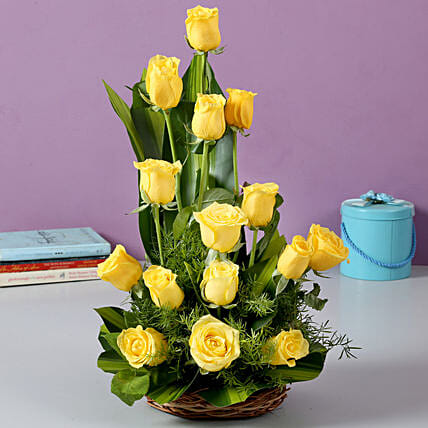 Sunshine Yellow Roses Bouquet: Flower Arrangements