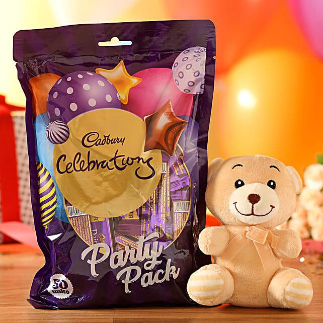 Adorable Teddy Bear & Cadbury Party Pack: