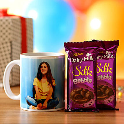Personalised Mug & Silk Chocolate Combo: Personalised Mugs