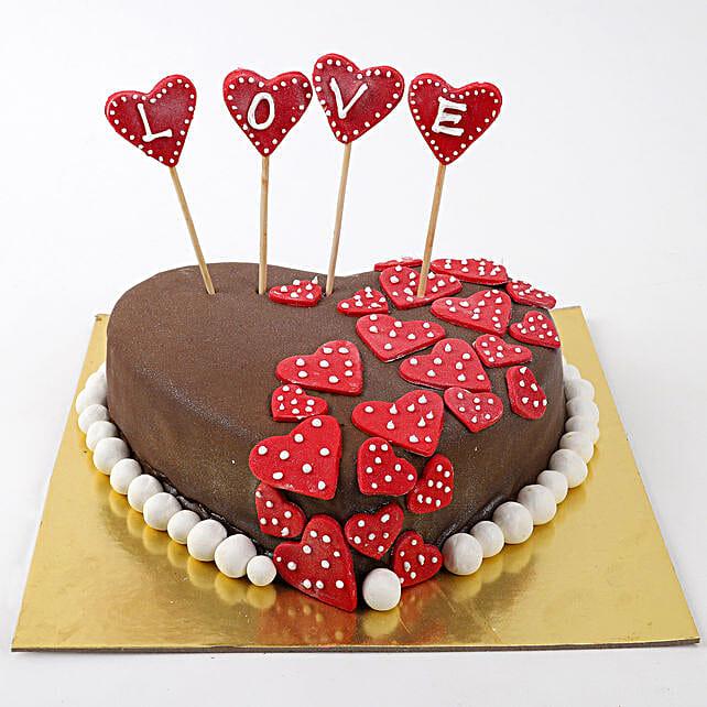 Valentine Red Hearts Cake: Designer Cakes