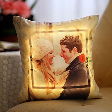 Valentine's Day Special Personalised LED Cushion: Hug Day Gifts