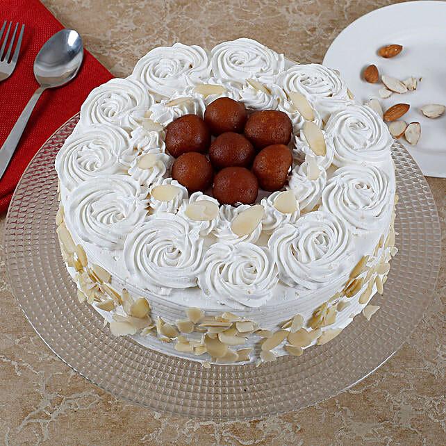 Vanilla Fusion Gulab Jamun Cake: Fathers Day Sweets
