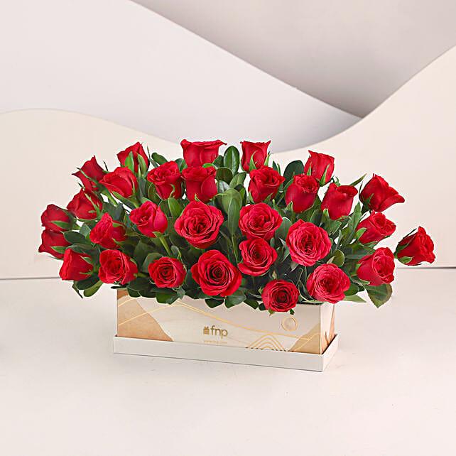 Velvety Love- 30 Red Roses Box:
