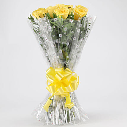 Vibrant Yellow Roses Bouquet: Yellow Flowers