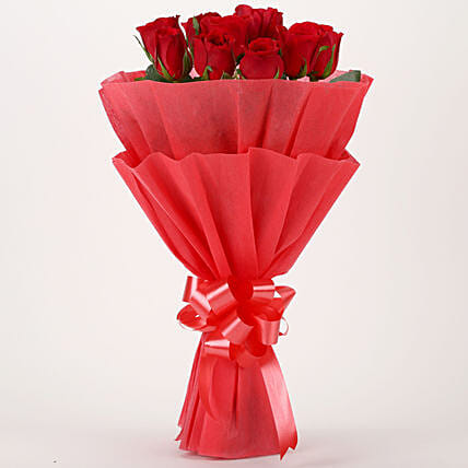 Vivid - Red Roses Bouquet: Gift Delivery in Hingoli