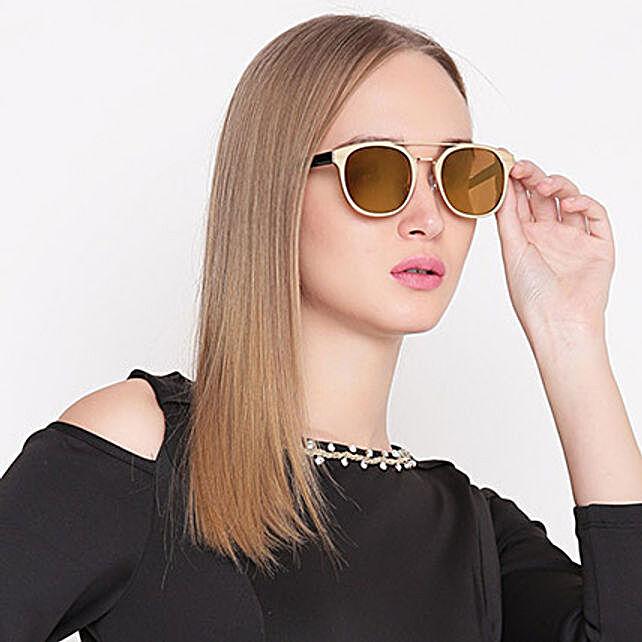 Wayfarer Unisex Sunglasses Gold: Fashion Accessories