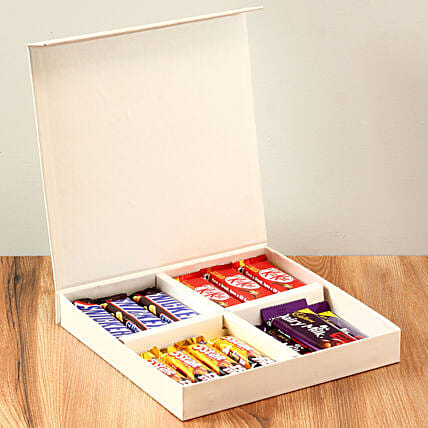 White Gift Box Of Chocolates: Congratulations Gifts