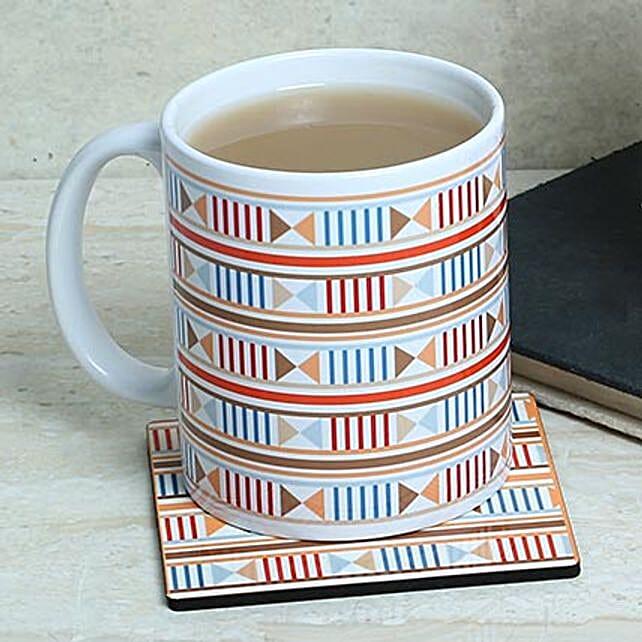 White Printed Love Mug: Coasters