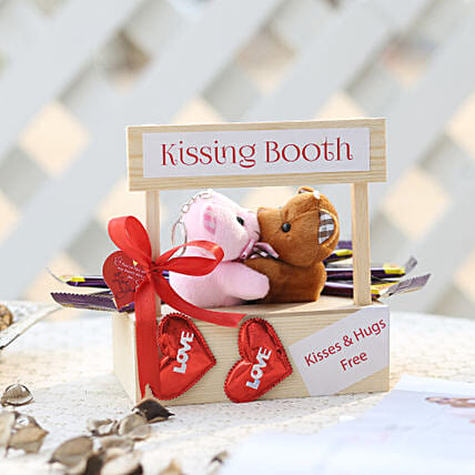 Wooden Kissing Booth & Dairy Milk Chocolates: Cadbury Chocolates
