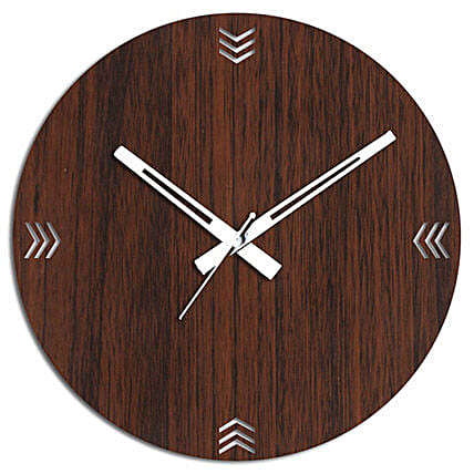 Wooden Wall Clock In Brown: Wall-Clock Gifts