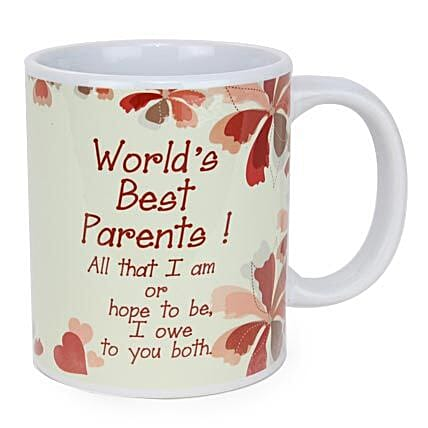 Worlds Best Parents Mug: Send Gifts for Parents Day