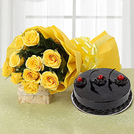 Yellow Roses and Cake: Thanksgiving Day Gifts