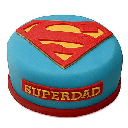 Yummy Super Dad Special Cake: Fathers Day Designer Cakes