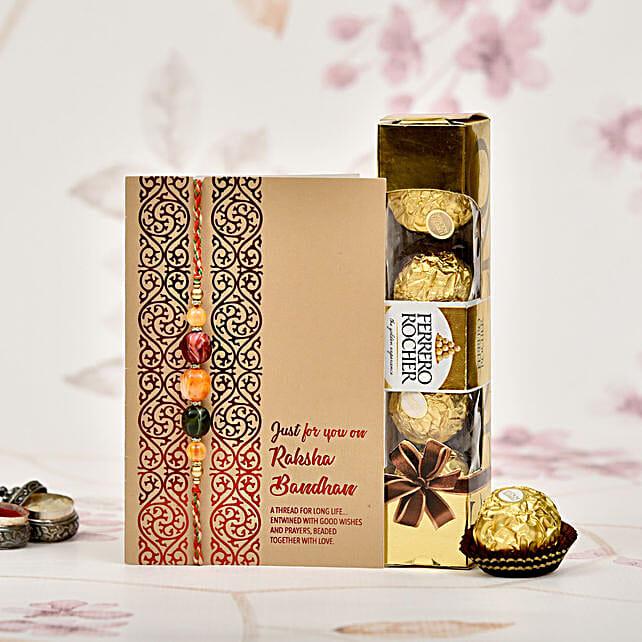 Premium Rakhi Celebration With Rocher: Rakhi Delivery in Malaysia