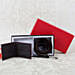 Stylish Dark Brown Belt N Wallet