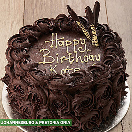 Chocolate Rose Cake: Send Gifts to South Africa
