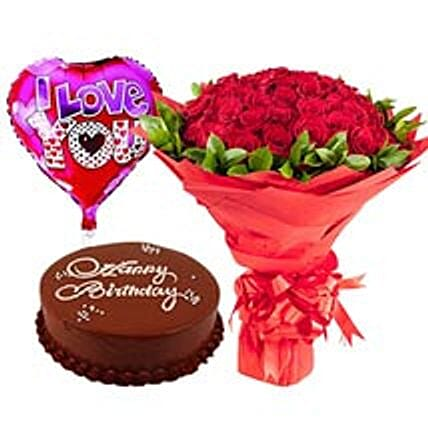 Classic Birthday Collection Flowers Cakes To Dubai