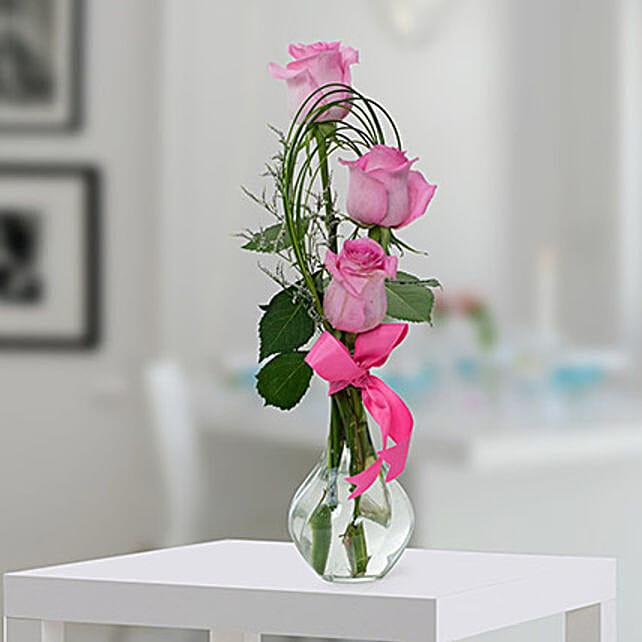Pleasant Rose Arrangement: Send Bhai Dooj Gifts to UAE