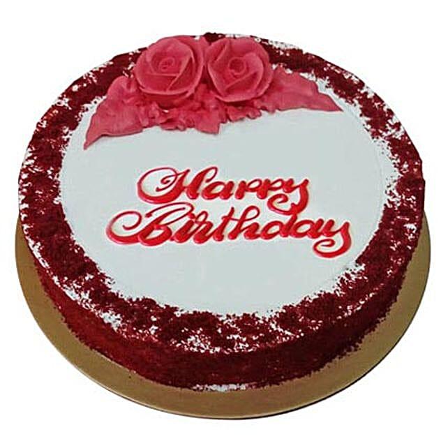 Red Velvet Birthday Cake Send Cakes To UAE