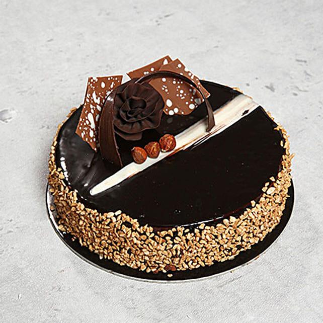 4 Portion Rose Noir Cake: Send Cakes to UAE