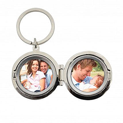 Personalized Dad No.1 Photo Keyring: Father's Day Gifts to UK
