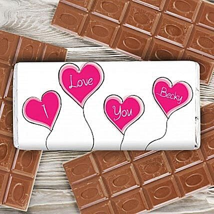 Personalized Heart Balloons Milk Chocolate: Personalised Gifts for Him UK