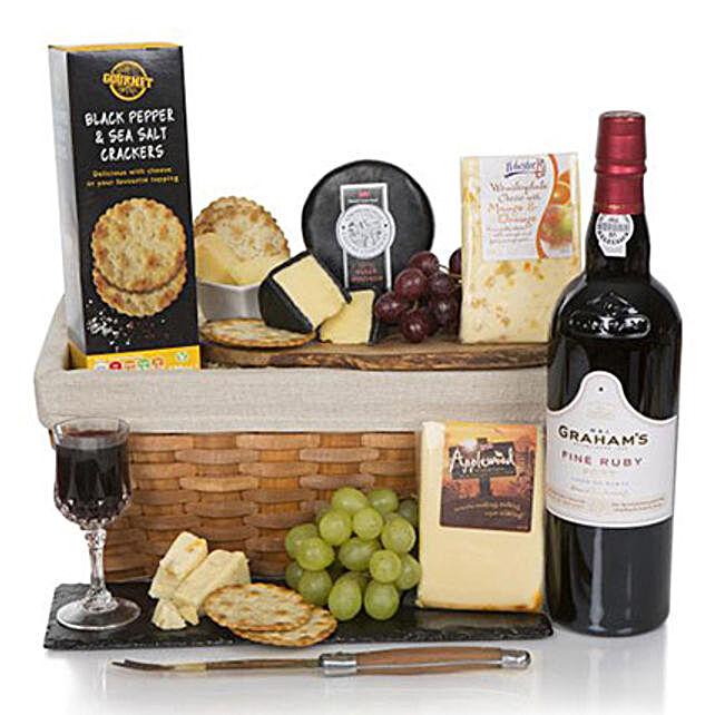 Luxury Port And Cheese Hamper: Chocolates in UK