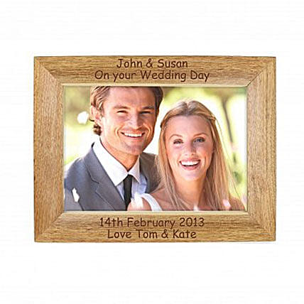 Personalized Walnut Wood Photo Frame: Send Personalised Gifts to UK