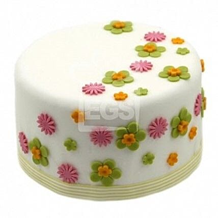 Flower Duet Cake: Birthday Cake Delivery in UK