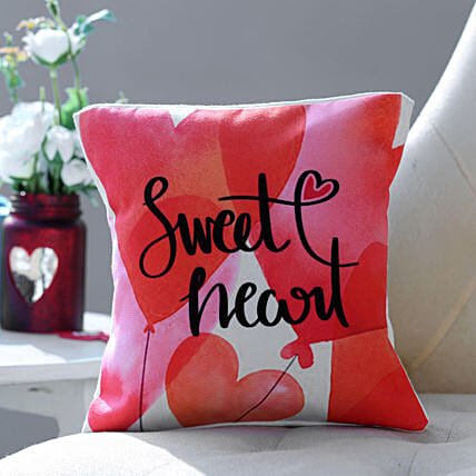Sweet Heart Cushion: Personalised Cushions to USA