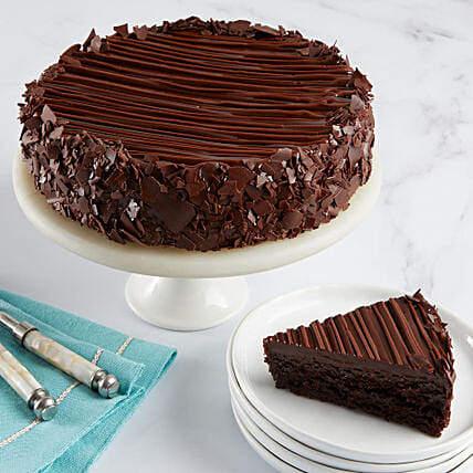 Triple Chocolate Enrobed Brownie Cake: Gifts to Stamford