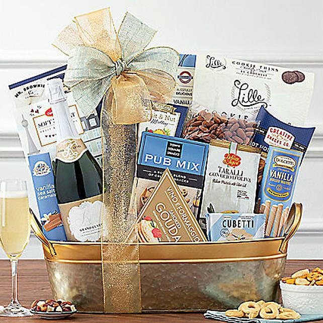 Kiarna California Champagne Basket: Corporate Gifts to USA