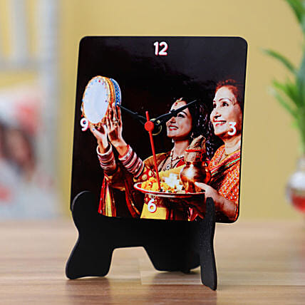 Karwa Chauth Special Table Clock: Send Personalised Gifts to USA
