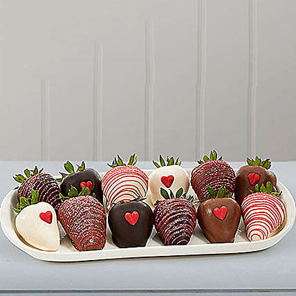 Valentines Chocolate Dipped Strawberries: Valentine's Day Gifts to USA