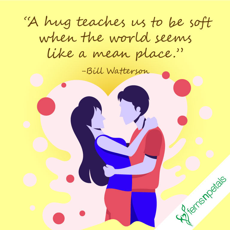 Hug Day Quotes Happy Hug Day Messages And Wishes Ferns N Petals