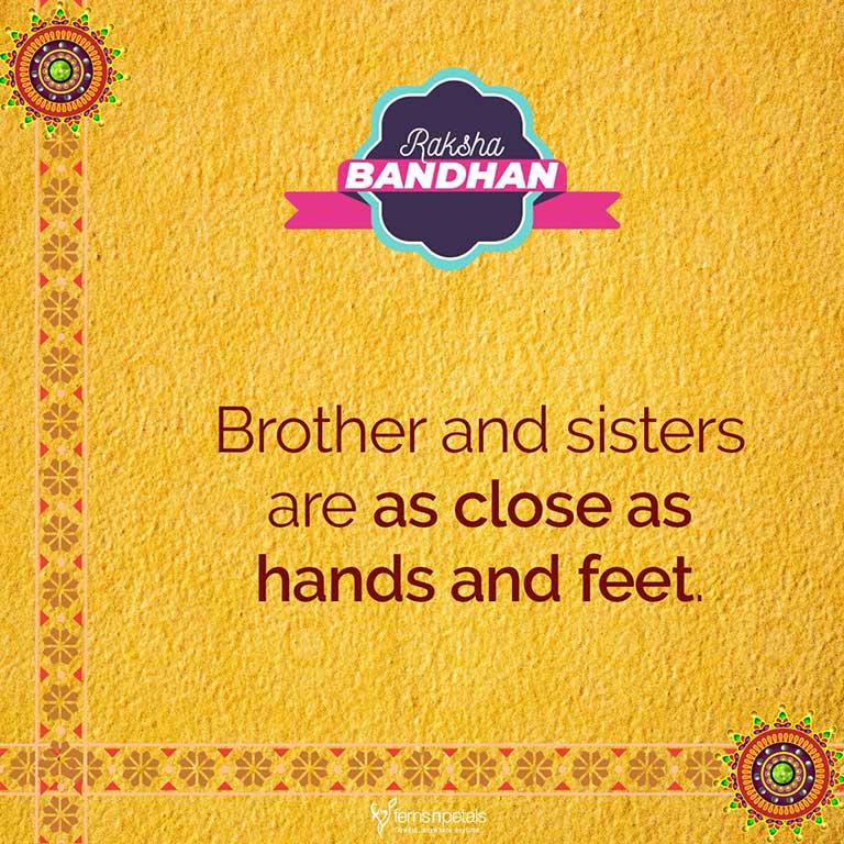 50+ Happy Raksha Bandhan/Rakhi Quotes, Wishes, Status For ...